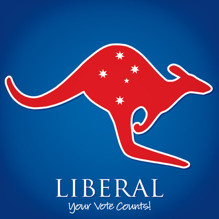 red kangaroo: Australian Election card in vector format.