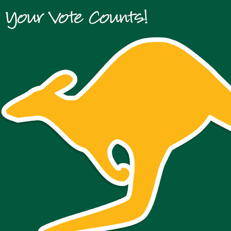 nomination: Australian Election card in vector format.
