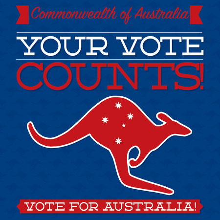 federal election: Australian Election card in vector format.