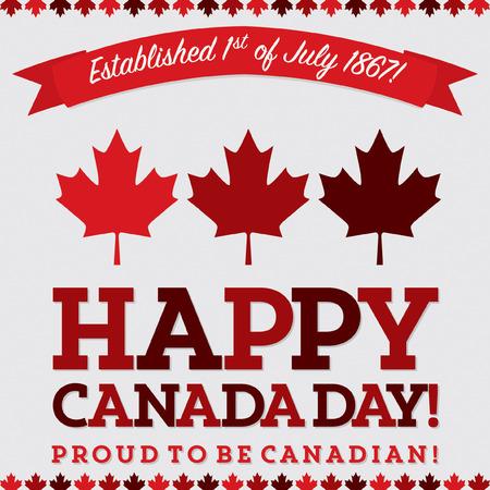 Retro sash Canada Day maple leaf card in vector format. Vektorové ilustrace