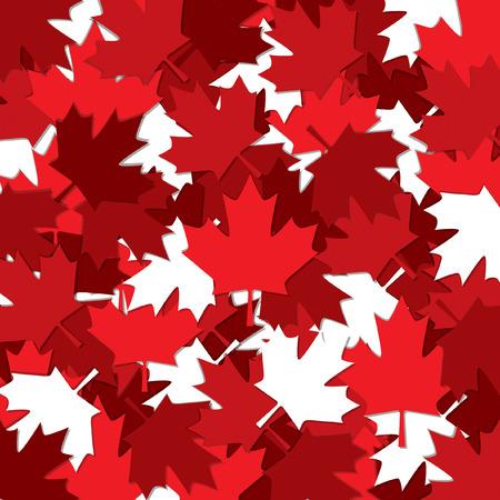 patrón de dispersión de la hoja de arce canadiense en formato vectorial.