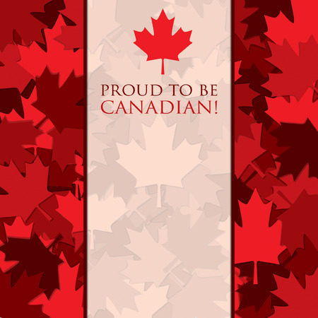 scatter: Scatter Canada Day maple leaf card in vector format.
