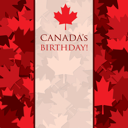 canada day: Scatter Canada Day maple leaf card in vector format.