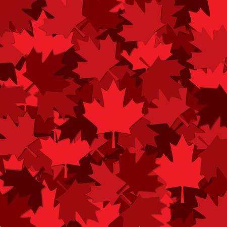 Canadian Maple leaf scatter pattern in vector format. Ilustrace