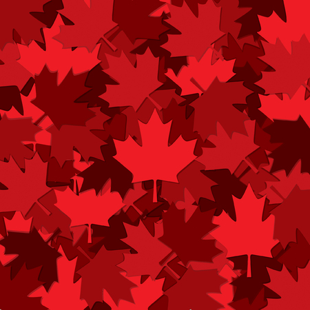 Canadian Maple leaf scatter pattern in vector format. Vectores