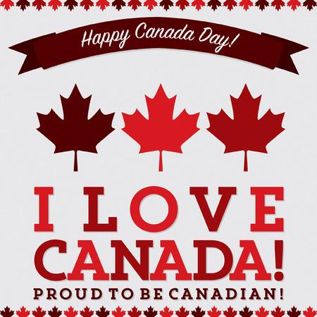 sash: Retro sash Canada Day maple leaf card in vector format.