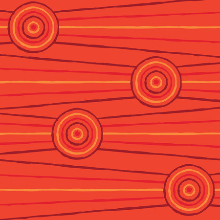 queensland: Abstract Aboriginal line painting in vector format.
