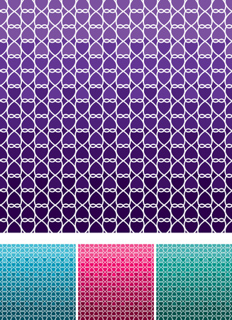 weave: Moroccan weave pattern set in vector format.