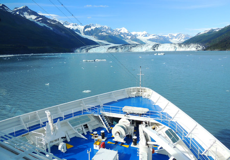 Harvard Glacier from a ship in College Fjord, Alaska.