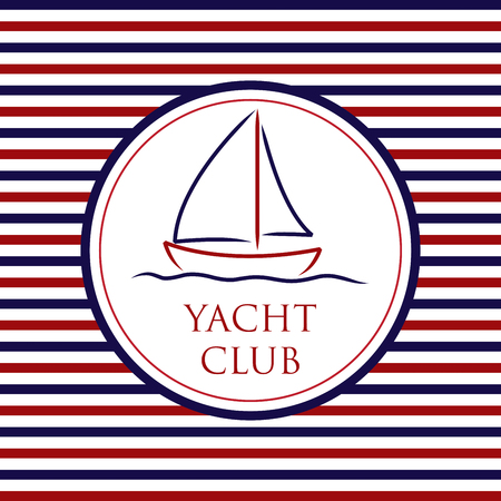 Yacht Club background in vector format. Çizim