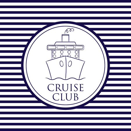 navy pier: Cruise Club background in vector format.