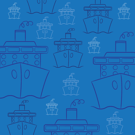 starboard: Hand drawn cruise ship in vector format.