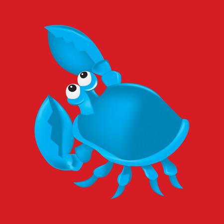 blue swimmer crab: Cartoon crab in vector format.