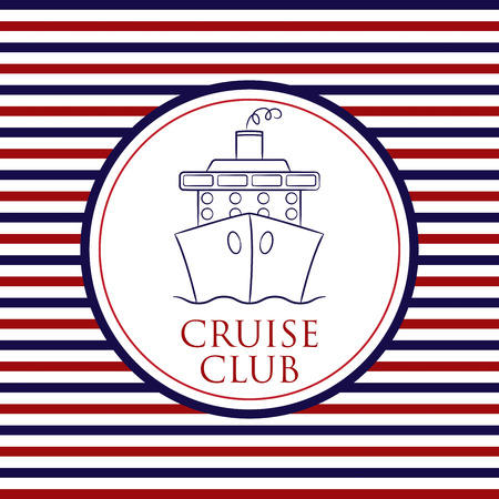 starboard: Cruise Club background in vector format.