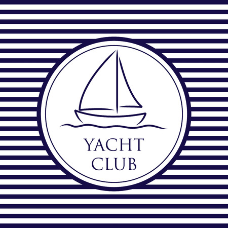 starboard: Yacht Club background in vector format. Illustration