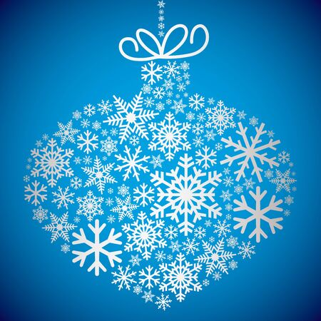 Bauble made of snowflakes in vector format. Illustration