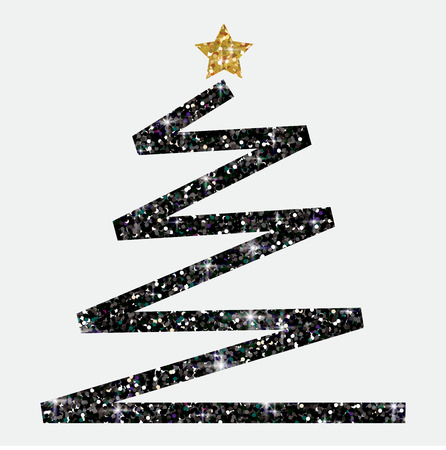 Glitter simple Christmas tree in vector format.