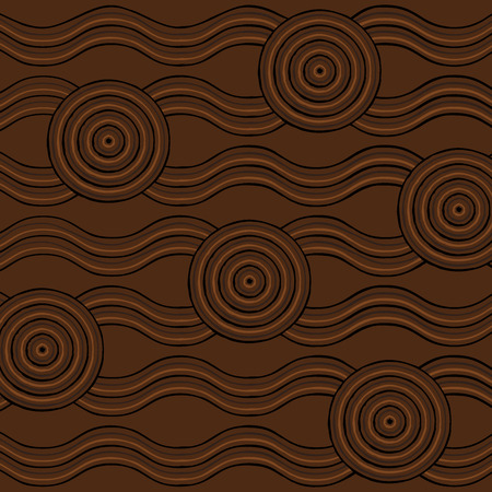 outback: Abstract Aboriginal line painting in vector format.