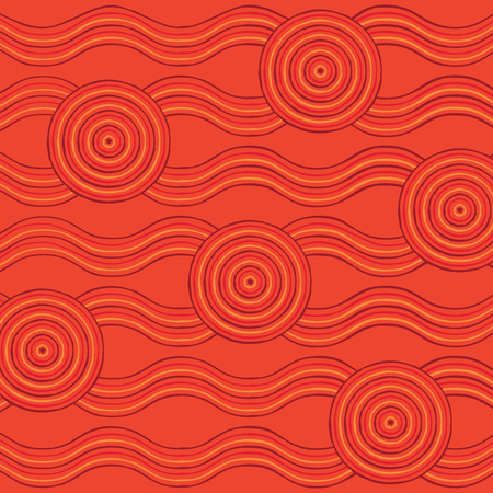 aussie: Abstract Aboriginal line painting in vector format.