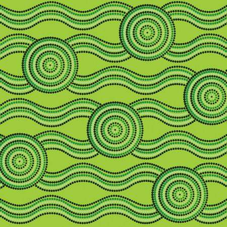outback: Abstract Aboriginal dot painting in vector format.