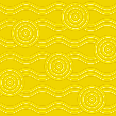 wattle: Abstract Aboriginal line painting in vector format.