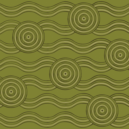 gum tree: Abstract Aboriginal line painting in vector format.