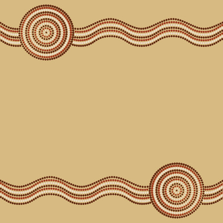 outback: Australian Aboriginal art background in vector format.