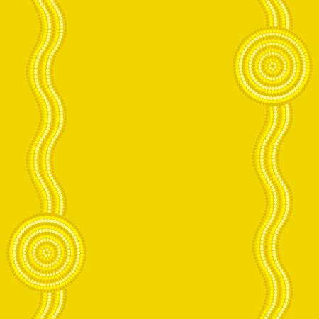 wattle: Australian Aboriginal art background in vector format.