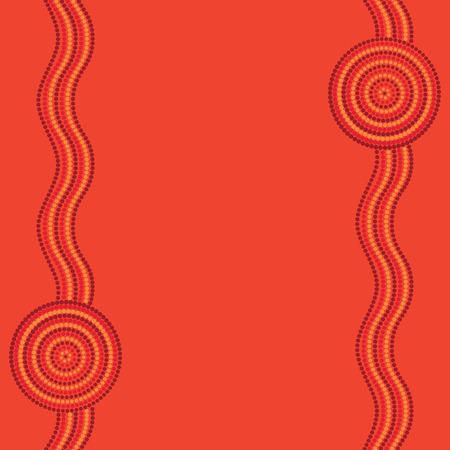 aboriginal art: Australian Aboriginal art background in vector format.