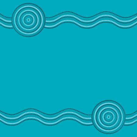 Australian Aboriginal Kunst Hintergrund im Vektor-Format.