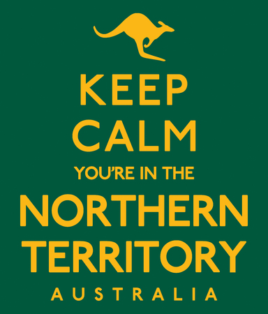 Keep Calm Youre In The Northern Territory poster in vector format. Illustration