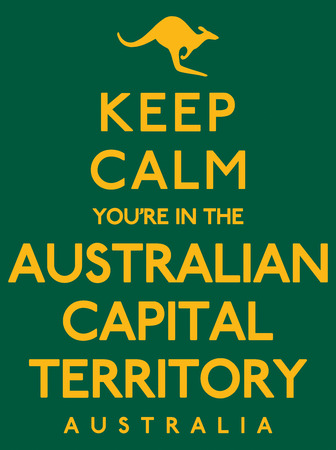 Keep Calm Youre In The Australian Capital Territory poster in vector format. Illustration