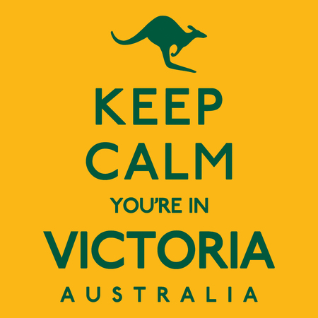 melbourne australia: Keep Calm Youre In Victoria poster in vector format.