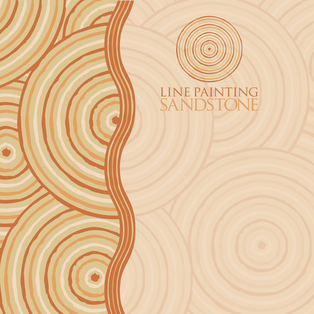 queensland: Line painting invite greeting card in vector format.