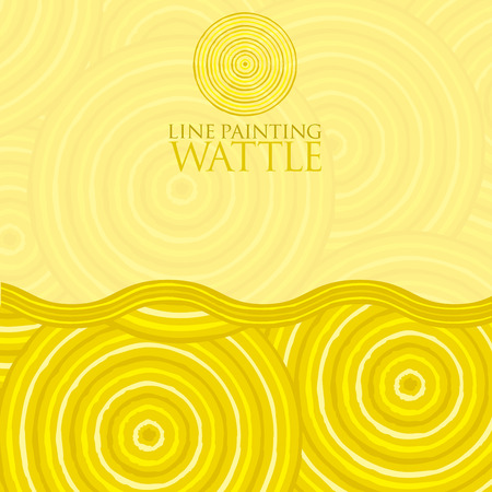 Line painting invite greeting card in vector format.