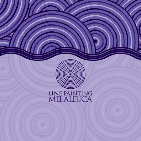 queensland: Line painting invite greeting card Illustration