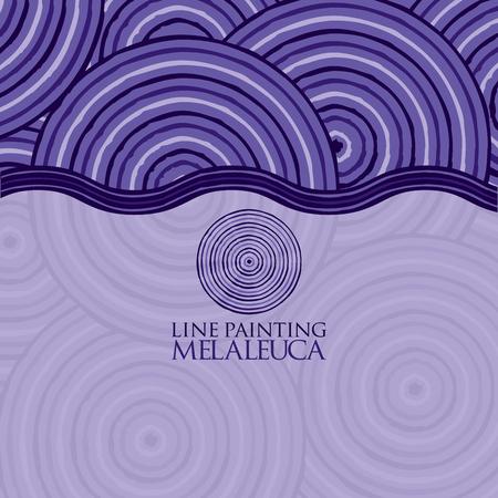 mauve: Line painting invite greeting card Illustration