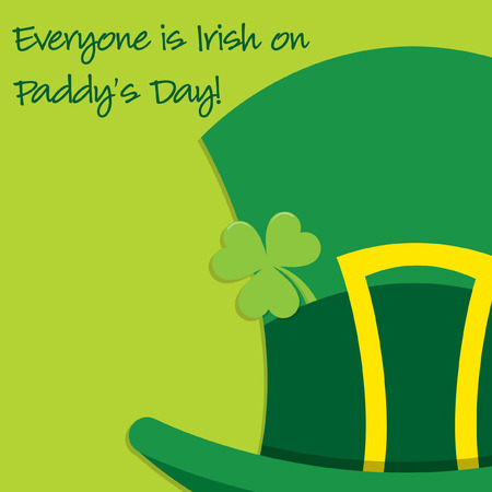 Leprechauns hat St Patricks Day card in vector format.