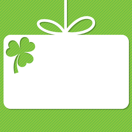 St. Patricks Day tag in vector format.