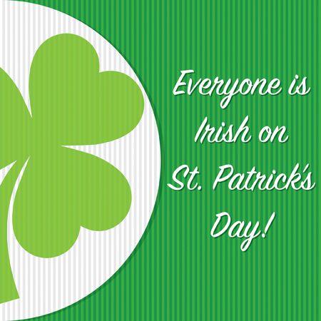 Circle shamrock St Patricks day card in vector format.
