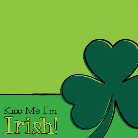 Hand drawn shamrock St Patricks Day card in vector format.