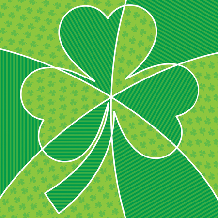 Bright abstract St. Patricks Day shamrock in vector format. Illustration
