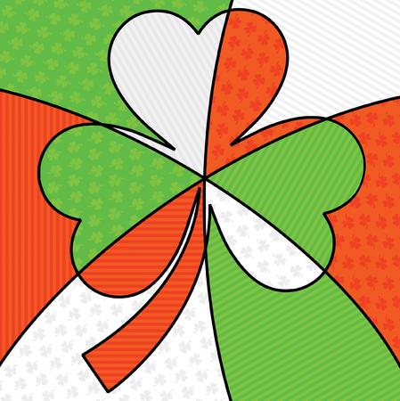 Bright abstract St. Patricks Day shamrock in vector format. Illustration
