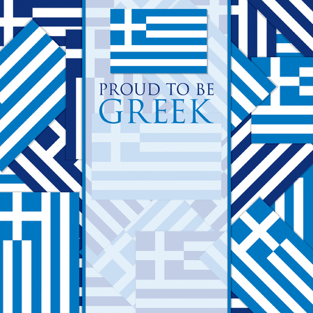 Flag Greek Independence Day card in vector format.