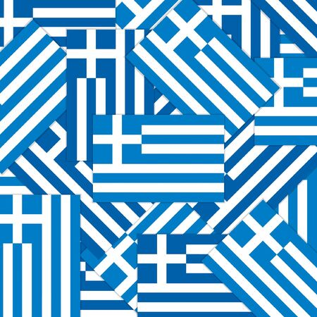 Greek flag overlay pattern in vector format. Illustration
