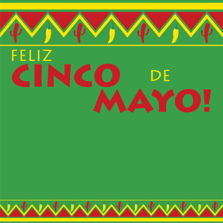 Mexican pattern Cinco de Mayo card in vector format. Illustration