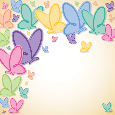 Soft butterfly background in vector format. Illustration