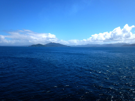 Scene of the Kawanasausau Strait, Milne Bay Province, Papua New Guinea.