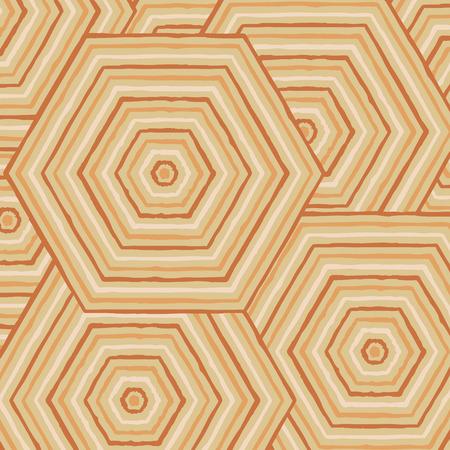 aboriginal art: Hexagonal abstract Aboriginal line painting in vector format.