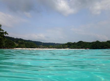 Scene of Champagne Bay, Espiritu Santo, Vanuatu. Stock Photo